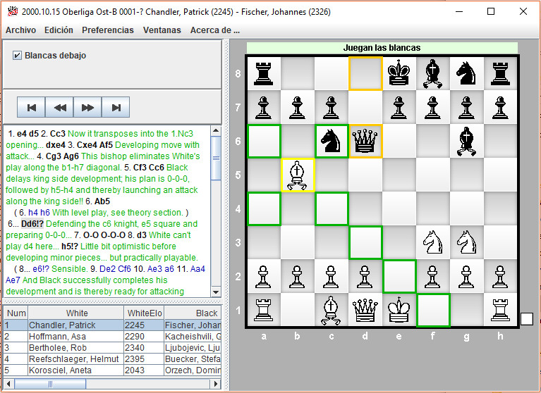 Chess PDF Browser Screen shot